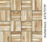 seamless natural wooden tiles... | Shutterstock . vector #637675759
