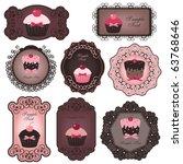 cupcake labels | Shutterstock .eps vector #63768646