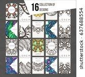 set of vector design templates. ... | Shutterstock .eps vector #637688554