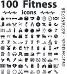 fitness and healthcare icon set | Shutterstock .eps vector #637690738