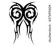 tribal tattoo art designs.... | Shutterstock .eps vector #637695604