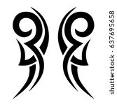 tribal tattoo art designs.... | Shutterstock .eps vector #637695658