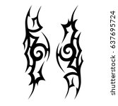 tattoo tribal vector designs.... | Shutterstock .eps vector #637695724
