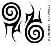 tattoo maori tribal ornament ...   Shutterstock .eps vector #637695823