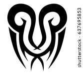 polynesian tattoo pattern ... | Shutterstock .eps vector #637695853