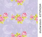 seamless floral pattern with... | Shutterstock .eps vector #637696264