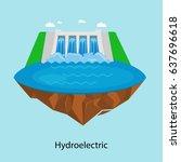 alternative energy power... | Shutterstock .eps vector #637696618