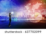 business technology abstract.... | Shutterstock . vector #637702099