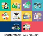 business and finance conceptual ... | Shutterstock .eps vector #637708804