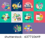 business and finance conceptual ... | Shutterstock .eps vector #637710649