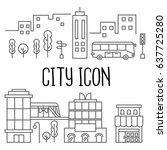 city icon | Shutterstock .eps vector #637725280
