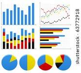 bar pie graph chart   Shutterstock .eps vector #63772918