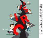 business team work for success... | Shutterstock .eps vector #637729909