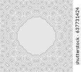 arabic round frame geometric... | Shutterstock .eps vector #637731424