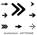 set of pointer  arrow  recycle... | Shutterstock .eps vector #637732468