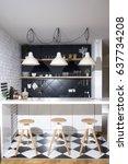 modern kitchen in a luxurious
