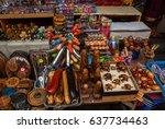 balinese market. souvenirs of... | Shutterstock . vector #637734463