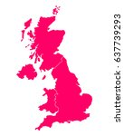 map of united kingdom | Shutterstock .eps vector #637739293