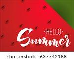 vector background of juicy... | Shutterstock .eps vector #637742188