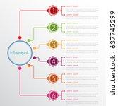 vector infographic templates...   Shutterstock .eps vector #637745299