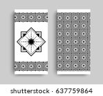 ornamented covers design in...   Shutterstock .eps vector #637759864