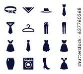 dress icons set. set of 16...   Shutterstock .eps vector #637760368
