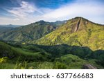 panoramic picture of beautiful... | Shutterstock . vector #637766683