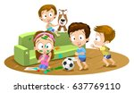 vector cartoon illustration of... | Shutterstock .eps vector #637769110