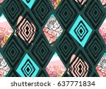 hand drawn vector abstract... | Shutterstock .eps vector #637771834