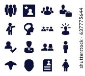 profile icons set. set of 16... | Shutterstock .eps vector #637775644