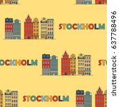 stockholm seamless pattern.... | Shutterstock .eps vector #637788496