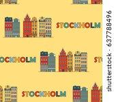 stockholm seamless pattern.... | Shutterstock .eps vector #637788496