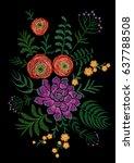delicate pink ranunculus... | Shutterstock .eps vector #637788508