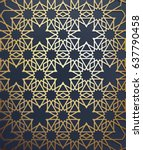 islamic arabic background. gold ... | Shutterstock .eps vector #637790458