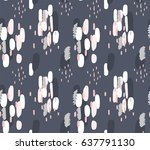 hand drawn brush hipster... | Shutterstock .eps vector #637791130