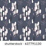 hand drawn brush hipster... | Shutterstock .eps vector #637791130