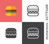 hamburger   Shutterstock .eps vector #637791688