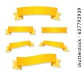 ribbon vector illustration... | Shutterstock .eps vector #637792939