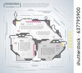 infographics elements in techno ... | Shutterstock .eps vector #637795900