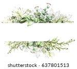 card  watercolor invitation... | Shutterstock . vector #637801513