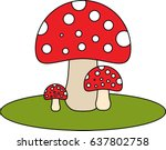 flat illustration of a red... | Shutterstock .eps vector #637802758
