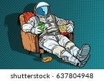 astronaut the audience with... | Shutterstock .eps vector #637804948