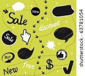 vector sale set | Shutterstock .eps vector #63781054