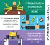 flat illustration of 3 system... | Shutterstock .eps vector #637814173