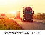 truck on a highway | Shutterstock . vector #637817104