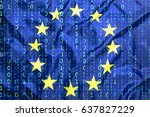 data protection  binary code... | Shutterstock . vector #637827229