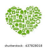 ecology icons | Shutterstock .eps vector #637828018