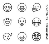 laugh icons set. set of 9 laugh ... | Shutterstock .eps vector #637833973