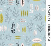 seamless pattern with different ... | Shutterstock .eps vector #637834726