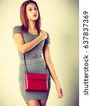 female fashion. girl mixed race ... | Shutterstock . vector #637837369